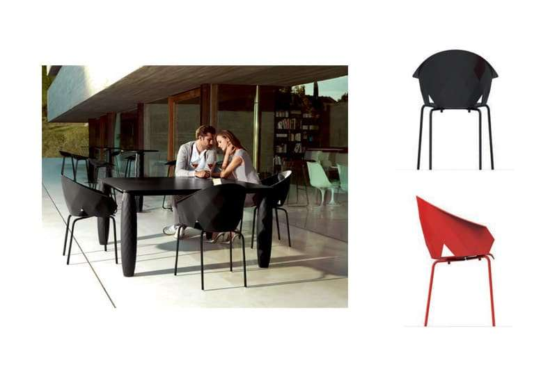 vondom vases chairs